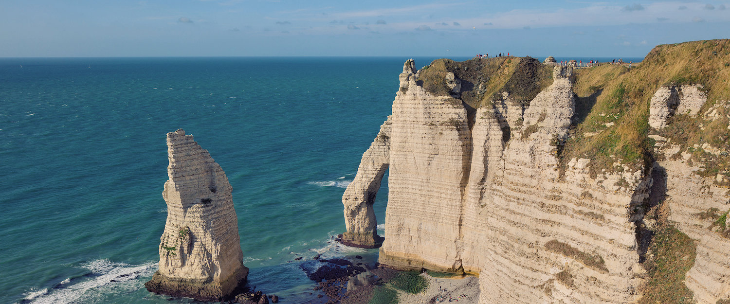 Cliffs of the French municipality Éretat in Normandy