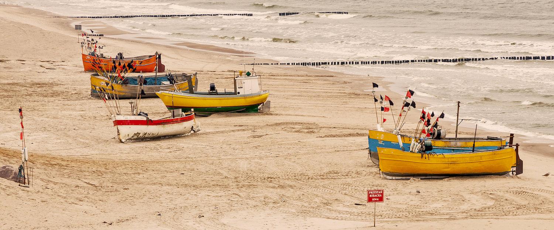 Fischerboote an der polnischen Ostseeküste