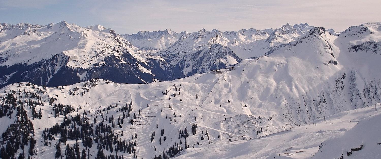 Blick auf das Montafon Tal in Vorarlberg