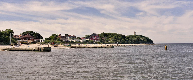 Widok na plażę w Niechorzu