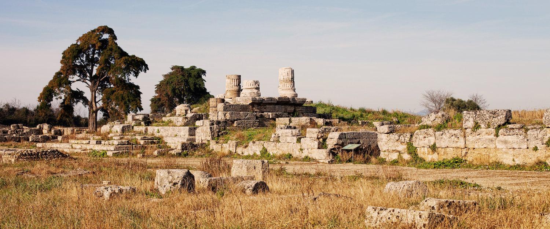 Historische Ruinen in Paestum