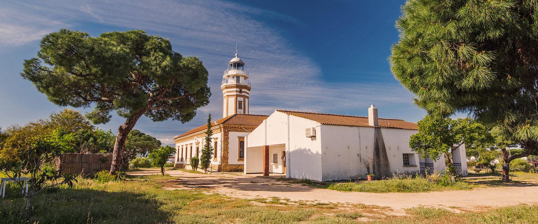El faro de Mazagón en Huelva
