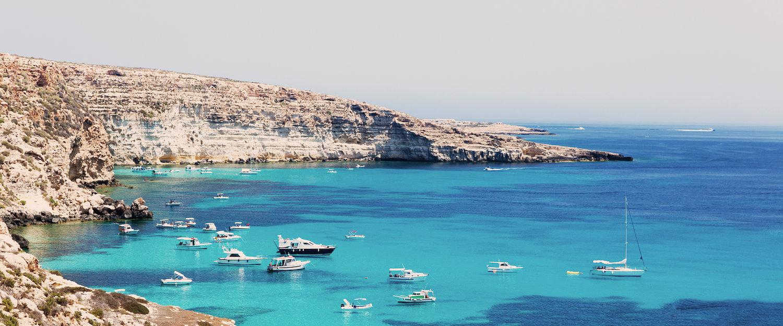 Una bahía maravillosa cerca de Lampedusa