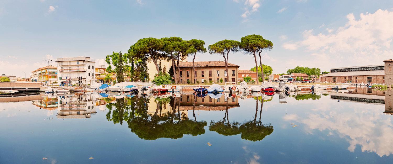 Vista sul canale di Cervia.