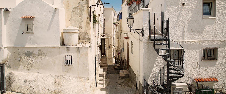 Typische Häuser in Vieste in Süditalien