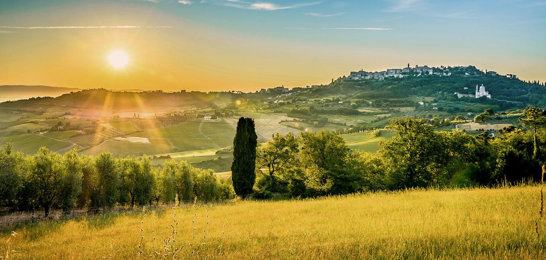 Classico paesaggio collinare toscano.