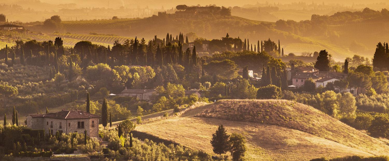 El paisaje de la Toscana