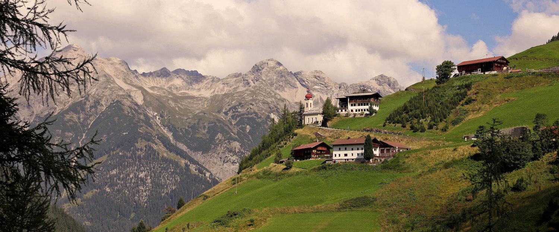 Idyllisch berglandschap in het Lechdal