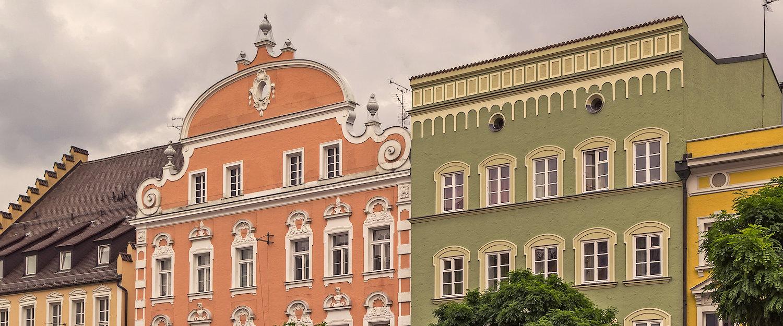 Schöne historische Altstadt Straubings
