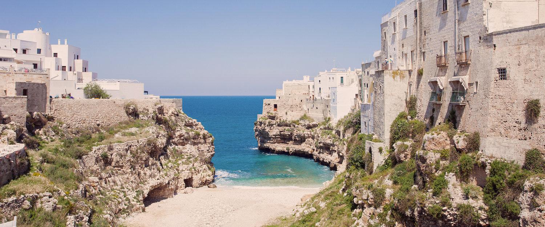 Wspaniały widok na morze w Bari.