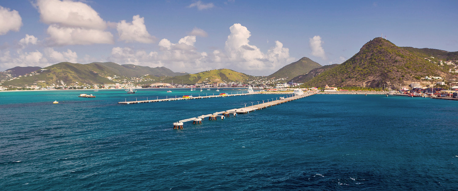 Philipsburg in the Caribbean