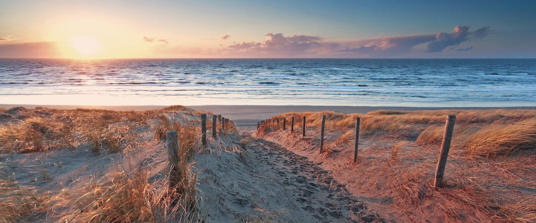Unendliche Weiten: Sand und Meer wohin der Blick reicht.