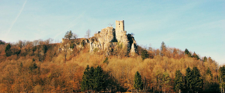 Die Burgruine Neideck in der Fränkischen Schweiz