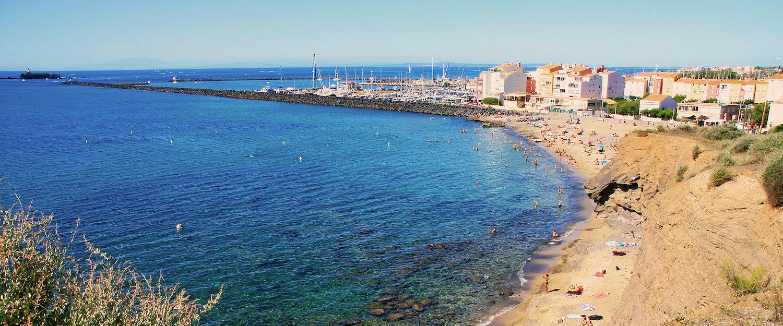 Vue sur plage, Cap D'Agde