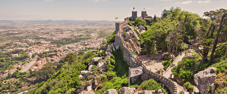 Vista del Castelo dos Mouros, en Sintra