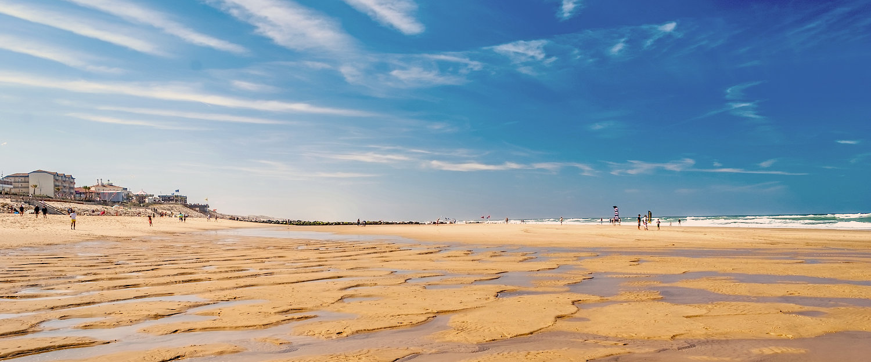 Ebbe am Strand