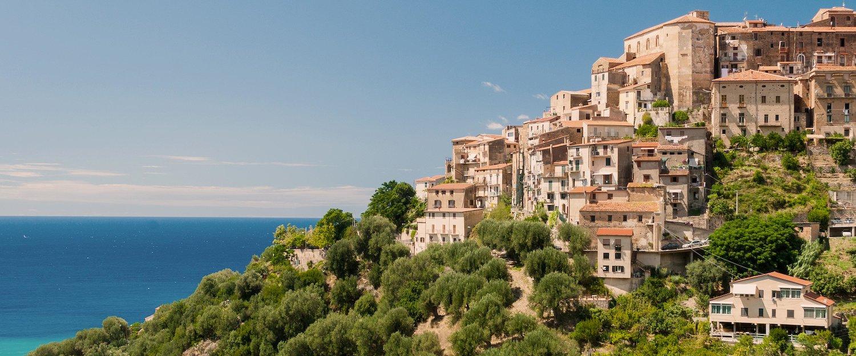 Uitzicht op zee vanaf Marina di Pisciotta