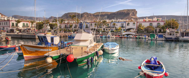 Idyllischer Hafen in Puerto de Mogan