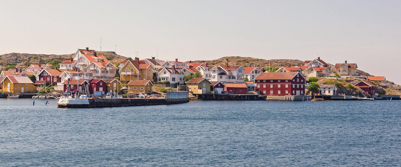 Blick auf den Hafen von Bohuslän