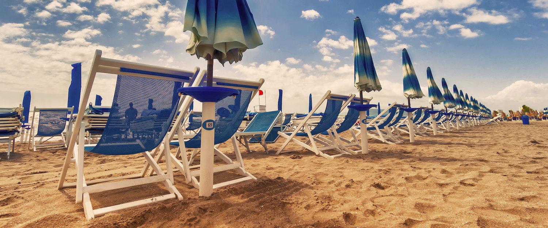 Spiaggia attrezzata.