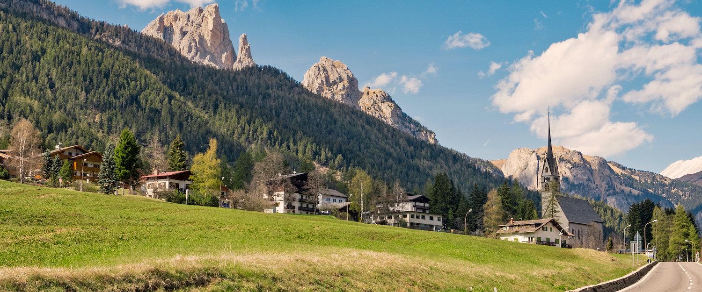 Bergmassiv Rosengarten in Val di Fassa