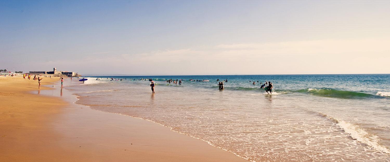 Praia na Costa de Caparica