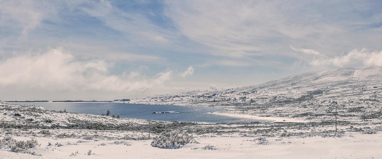 Vista da Serra da Estrela no Inverno