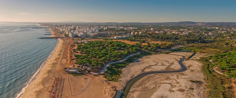 Vista da Costa de Quarteira