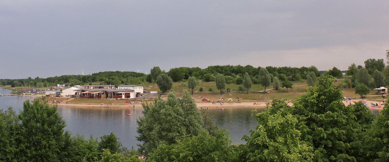Der Schladitzer See im Leipziger Seenland