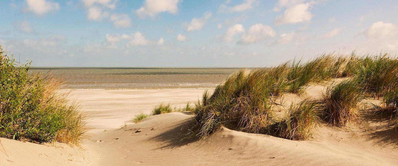 Traumhafte Sandstraße entlang der belgischen Küste