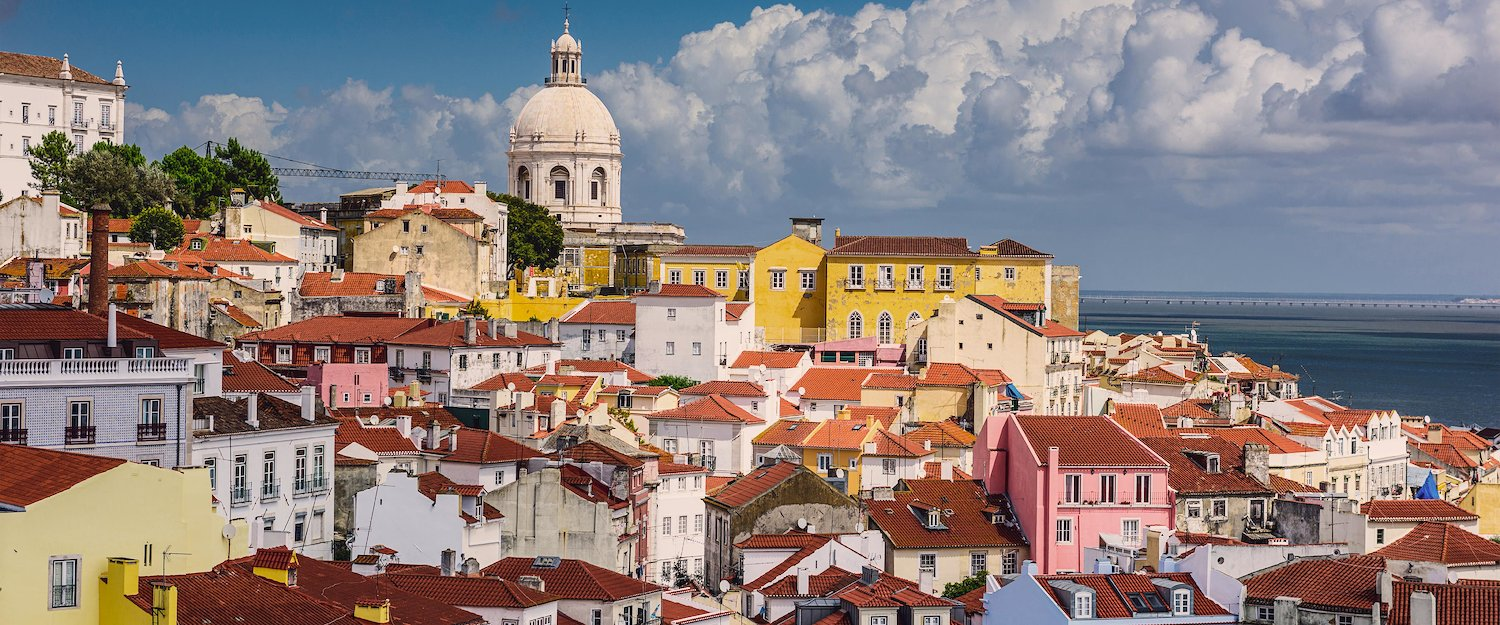 Skyline of the Alfama quarter in Lisbon