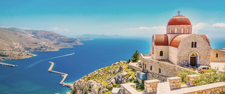 Vista de Uma Ilha Grega