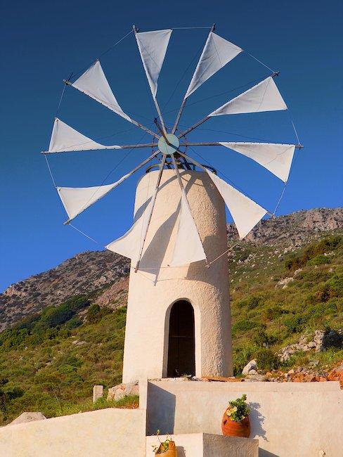 Moulin à vent blanc, Crète