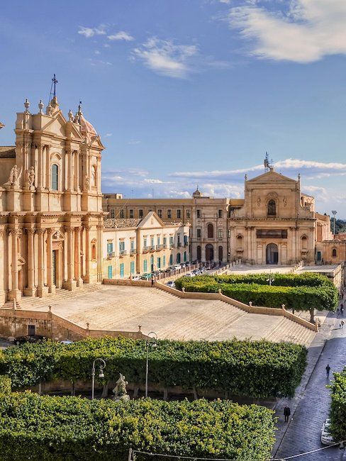 The beautiful city of Noto in Sicily