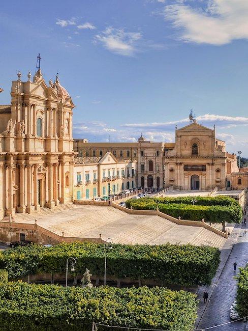 Die schöne Stadt Noto auf Sizilien