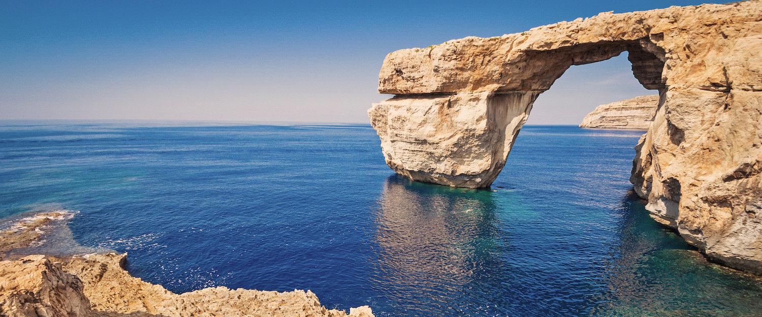 The former Azure Window on Gozo