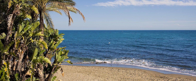 Beach and sea at Marbella