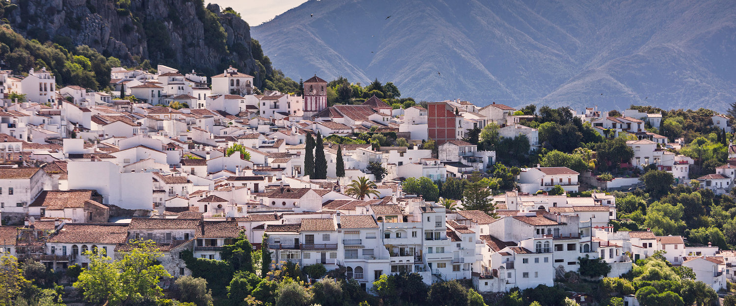 Stadt Gaucín in Andalusien