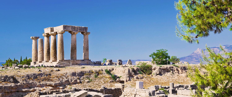 Ruinen der Tempel in Korinth