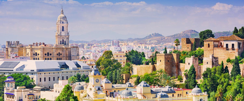 Stadsutsikt över Malaga