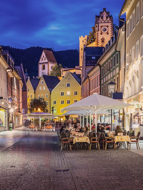 Die Innenstadt von Füssen