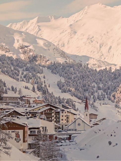 Fairytale snowy landscape in Tyrol