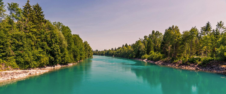 Der Stausee Forggersee