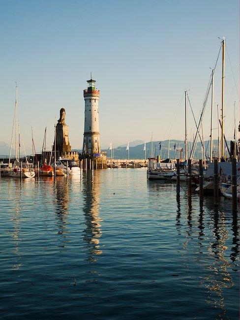Der Hafen von Lindau.