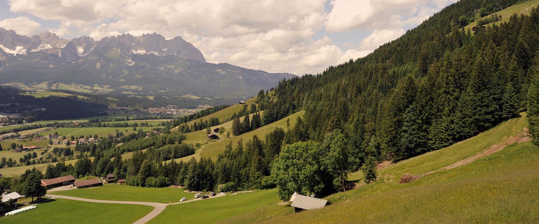 Alpenpanorama voor vakantiegangers