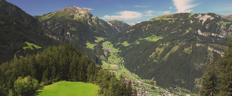 Blick in die österreichischen Berge