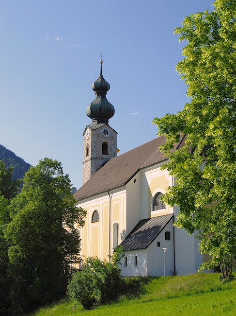 De kerk St. Georg in Ruhpolding