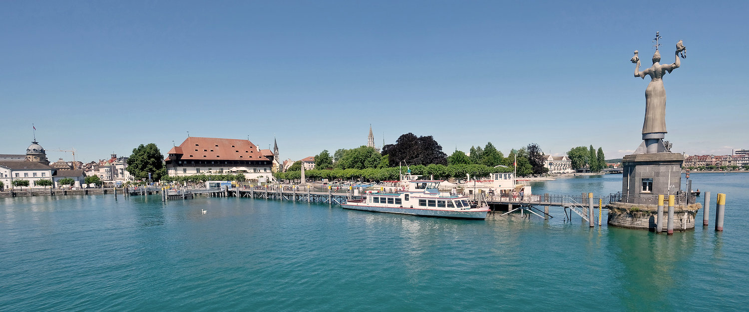 View of Konstanz on the other side of Lake Constance