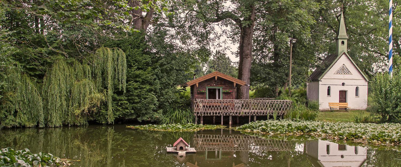 Erlkam Teich nördlich in Holzkirchen