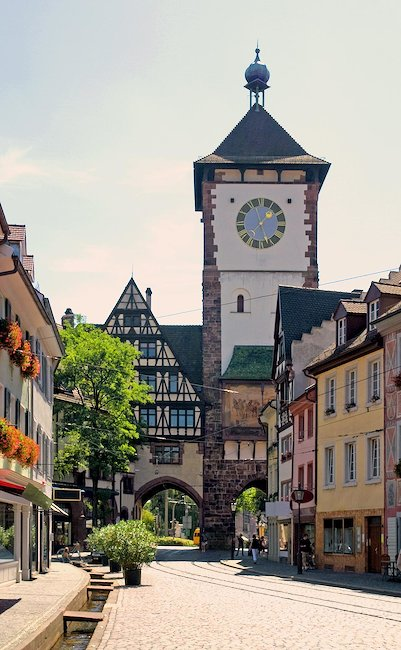 Romantic old town of Freiburg